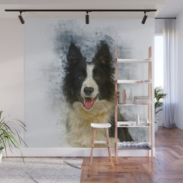 Border Collie Wall Mural