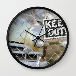 Keep Out Sign Wall Clock