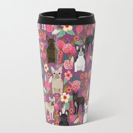 French Bulldog florals mixed coat colors dog breed pet must have gifts frenchies Travel Mug