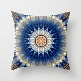 Mandala blue created by Tutti Throw Pillow