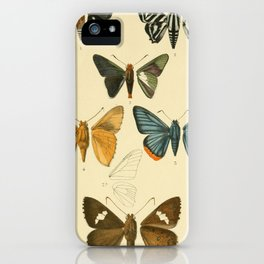 Vintage Moth Illustrations iPhone Case