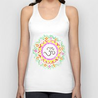 ohm Tank Tops featuring Ohm / OM  by HollyJonesEcu