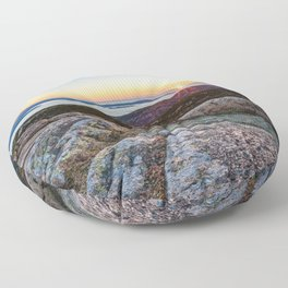 Acadia National Park Sunrise Maine Coast Mountain Sea Landscape Floor Pillow
