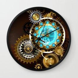 Unusual Clock with Gears ( Steampunk ) Wall Clock