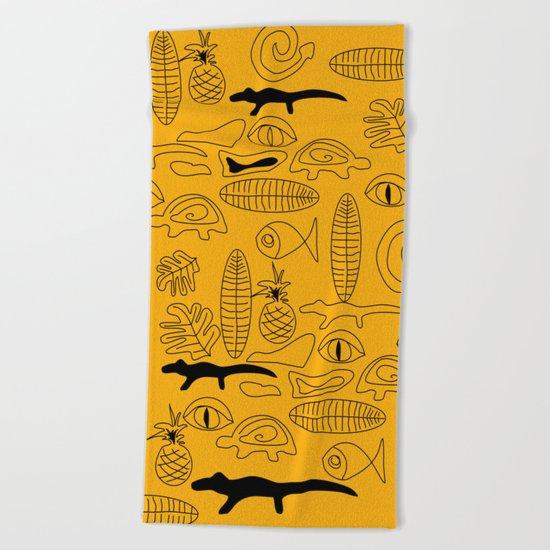 Crocodile Dream Beach Towel