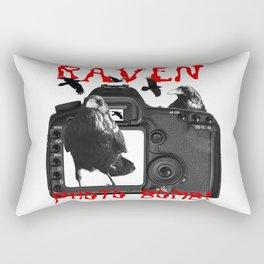 Raven Photo Bomb! Rectangular Pillow