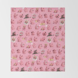 Rosa the Pig Pattern Throw Blanket