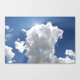Sun and Rays over Moroni #1 Canvas Print