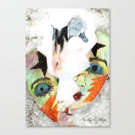 Swan mask Canvas Print