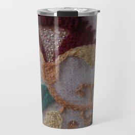 Elizabethan Embroidery Carnation Travel Mug