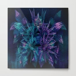 Outer Space Flowers.. Metal Print