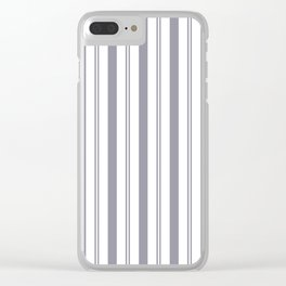 Pantone Lilac Gray & White Wide & Narrow Vertical Lines Stripe Pattern Clear iPhone Case