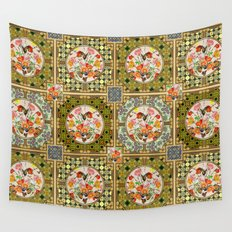 Persian Tile Butterfly Variation Wall Tapestry