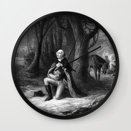 General Washington Praying At Valley Forge Wall Clock