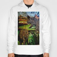 dinosaurs Hoodies featuring DINOSAURS by shannon's art space