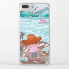 Giadina at the creeck Clear iPhone Case