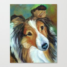 Shetland Sheepdog - Pretty Holly Canvas Print