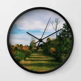Path through the Field Wall Clock