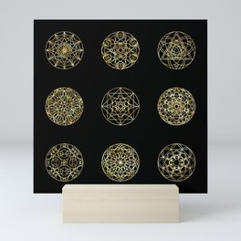 Sacred geometry - Melt It And Make Yourself A Tooth Mini Art Print