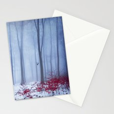 winter forest with birds Stationery Cards