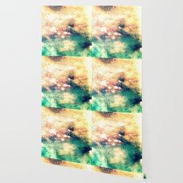 Carina Nebula Cream & Teal Wallpaper