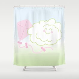Floof Cloud and Kite Shower Curtain