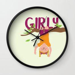 Positively Girly - tree 2 Wall Clock
