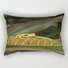 Red eye tree frog Rectangular Pillow