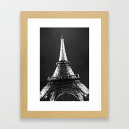 retro eiffel tower  Framed Art Print