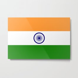 National flag of India - Authentic version to scale and color Metal Print