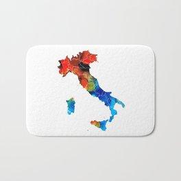 Italy - Italian Map By Sharon Cummings Bath Mat