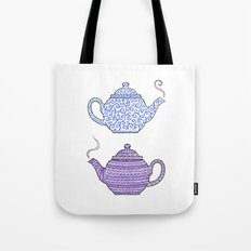 Patterned Teapots Tote Bag