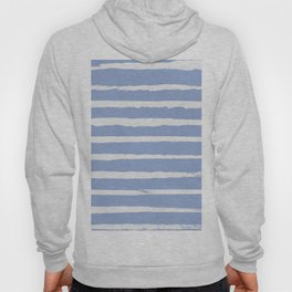 Irregular Hand Painted Stripes Light Blue Hoody