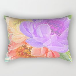 Light Peonies Rectangular Pillow