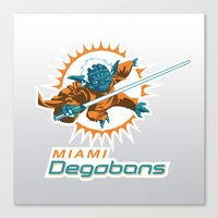 nfl Canvas Prints featuring Miami Degobans - NFL by Steven Klock