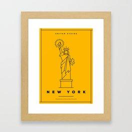 Minimal New York City Poster Framed Art Print