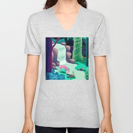 The Whispering Waters of Eventide Vale Unisex V-Neck