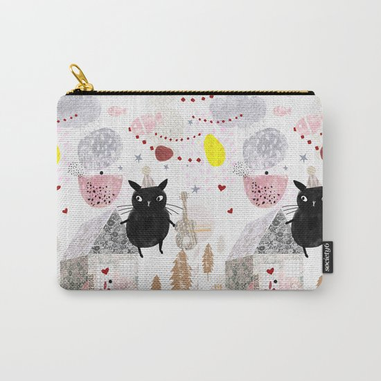Birthday Cat Carry-All Pouch