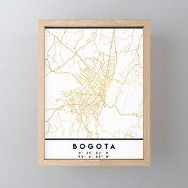 BOGOTA COLOMBIA CITY STREET MAP ART Framed Mini Art Print