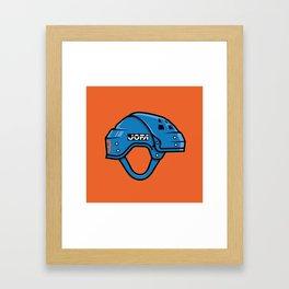VM Helmet Framed Art Print