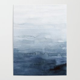 Indigo Abstract Painting | No. 4 Poster