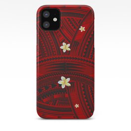 Polynesian Flower Design iPhone Case