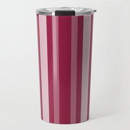 Raspberry Victorian Lady Stripe Travel Mug