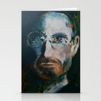 steve jobs Stationery Cards featuring Steve Jobs by Charles Dowdy