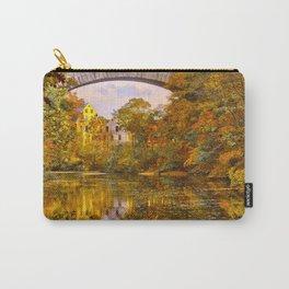 Fall at Upper Falls, Massachusetts.  Echo Bridge Carry-All Pouch