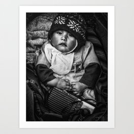 Bolivian Baby Art Print