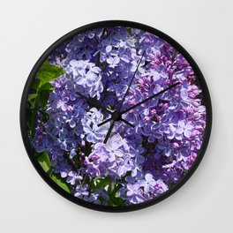 For the Love of Lilacs Wall Clock