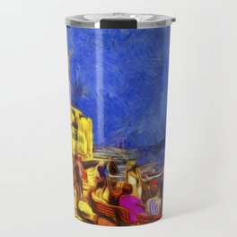 Istanbul At Night Van Gogh Travel Mug