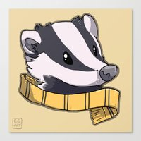 hufflepuff Canvas Prints featuring Hufflepuff by Clair C