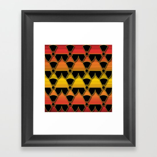 Sunset Warning! Framed Art Print